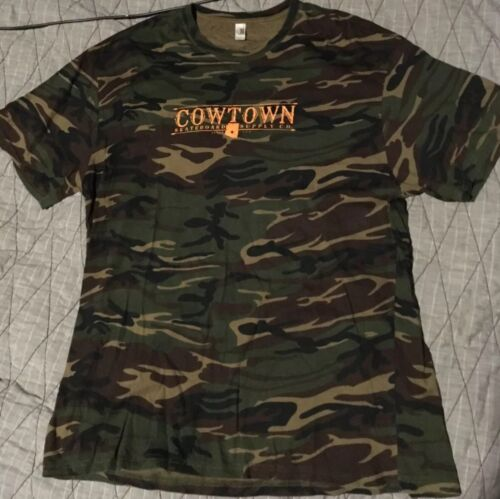 Cowtown Skateboards Camo Shirt XL Spitfire Anti He