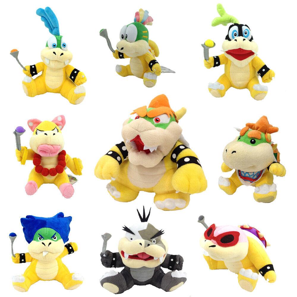 9X Super Mario Plush King Bowser Kids Koopalings Koopa Larry Lemmy Ludwig ETC