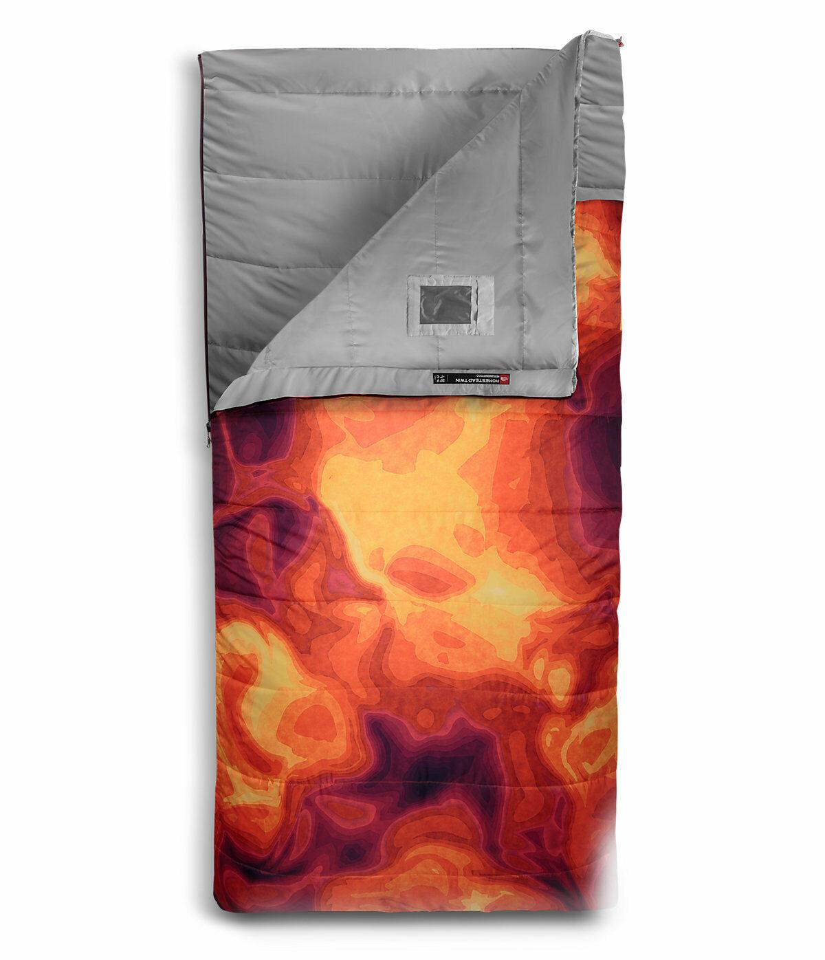 NEW The North Face Homestead Twin 20 -7 Sleeping Bag TIBETAN Orange HEAT MAP