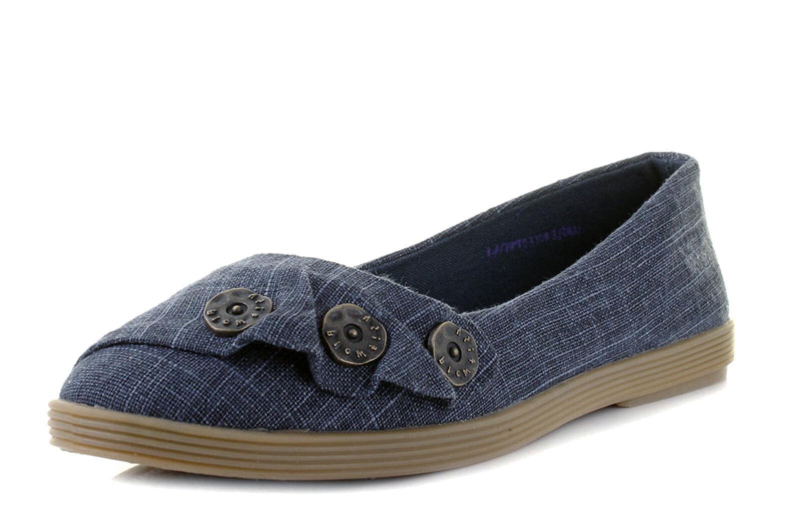 Blowfish NEW Garden navy cozumel linen womens flat ballet fashion shoes size 3-8