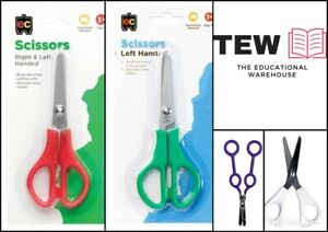 EC-Kid-Scissors-Left-amp-Right-Handed-Dual-Blunt-Tips-Stainless-Steel