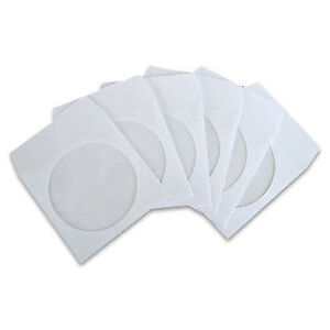 100-CD-DVD-PAPER-SLEEVES-COVER-CASE-WINDOW-FLAP