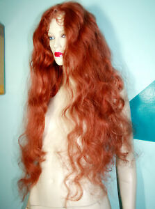 Full-Lace-Wig-Wigs-Human-Indian-Remy-Remi-Hair-Body-Wave-Wavy-Auburn-Red-215
