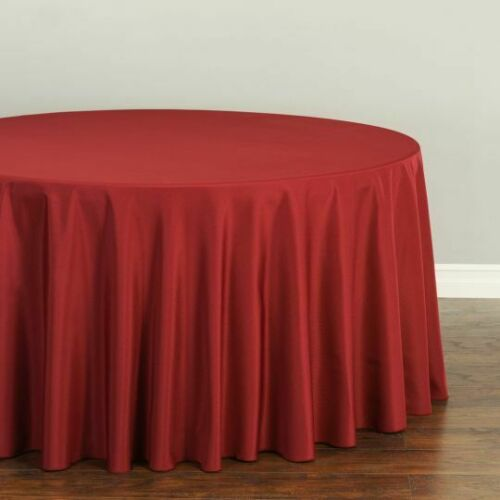 33 Colors! Round Polyester Tablecloths LinenTablecloth 108 in