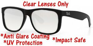 0c4284c8b0 Image is loading CLEAR-RB4165-Justin-Replacement-Lenses-UV-Protect-Anti-