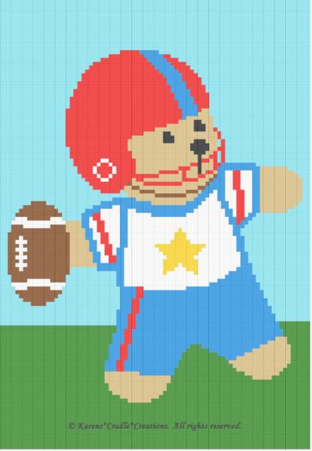 Teddy Bear Granny Squares Crochet Baby Blanket Free Pattern ... | 640x442