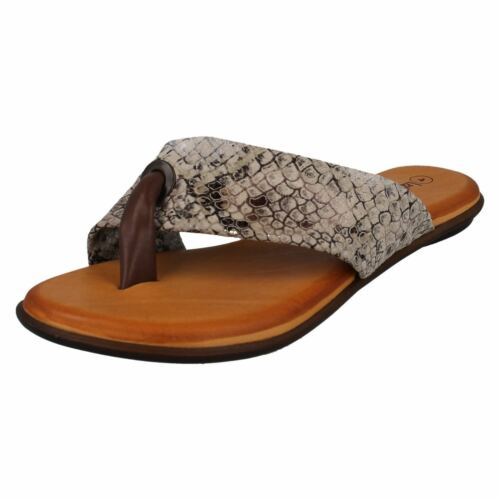 Ladies F0R0128 Toe Post Flip Flop Sandal By Leather Collection Sale Now £15.00
