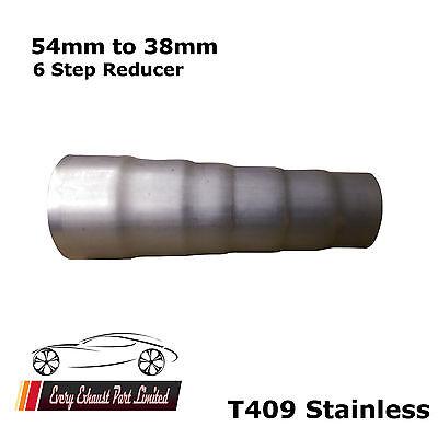 diamètre 58 mm 54 mm argent universel Tuyau d/'échappement Réducteur Section 54