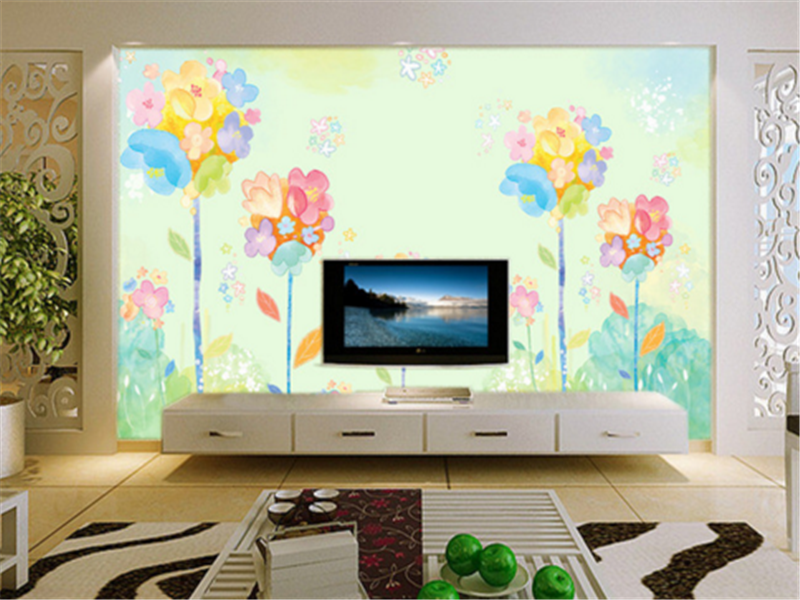 3D Farbe Flower Painting 88 Wallpaper Mural Paper Wall Print Wallpaper Murals UK