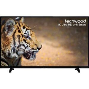 Techwood 55AO6USB 55 Inch Smart LED TV 4K Ultra HD Freeview HD 3 HDMI New