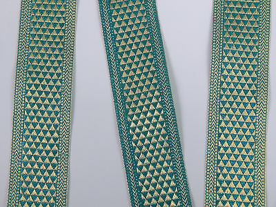 "1Yd  Jacquard Trim 2"" wide Woven Border Sew Ribbon T283"