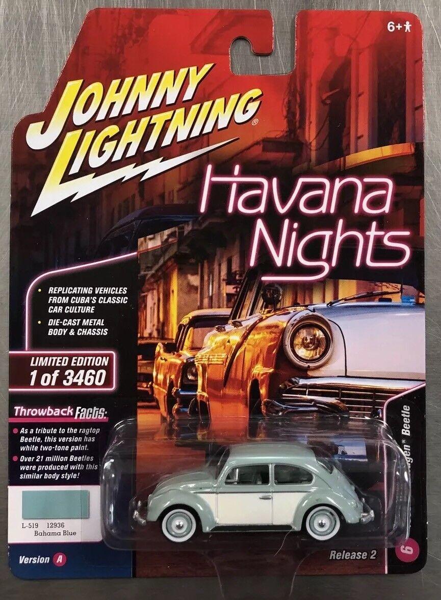 JOHNNY LIGHTNING 1965 VOLKSWAGEN BEETLE TWO-TONE HAVANA NIGHTS  REAL RIDERS