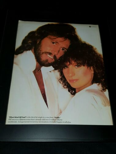 Barbra Streisand Barry Gibb What Kind Of Fool Rare Promo Poster Ad Framed!