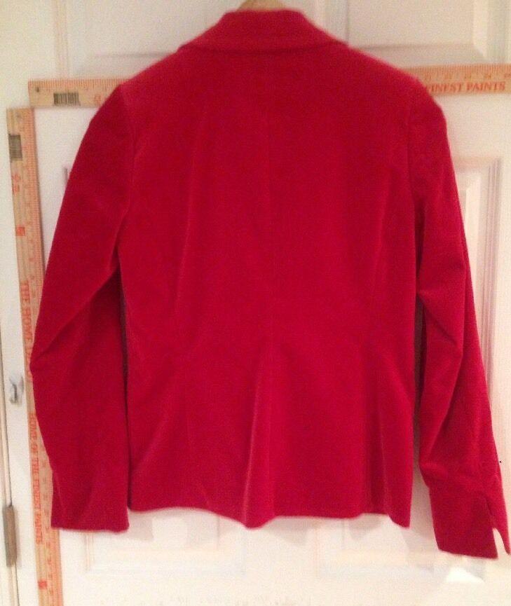 Women's 4 Marshall Field's Red Velvet Blazer - image 8