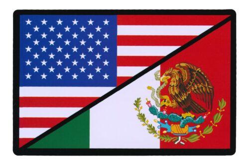 Tactical USA Flag Mexico Flag Sticker Decal