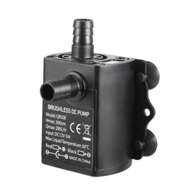 Mavel Star 12v dc Submersible Small Water Pump 163 GPH for Garden Water Circulation