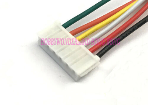 EH 2.5 6-Pin Female Housing Connector Wire and Male straight header x 10 Sets