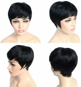 vck short human hair pixie wigs boy cut wigs for black