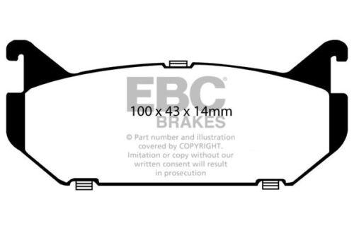 EBC Ultimax Rear Brake Pads for Mazda MX6 2.5 92-98 DP972