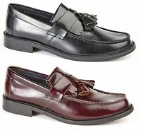 Roamers Skinhead Polished Leather Tassle Loafers Oxblood Toggle Saddle Shoes