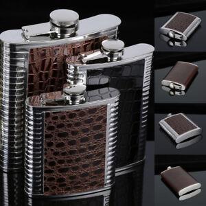 5-10-oz-Stainless-Steel-Pocket-Hip-Flask-Gift-Alcohol-Whiskey-Liquor-Screw-Cap