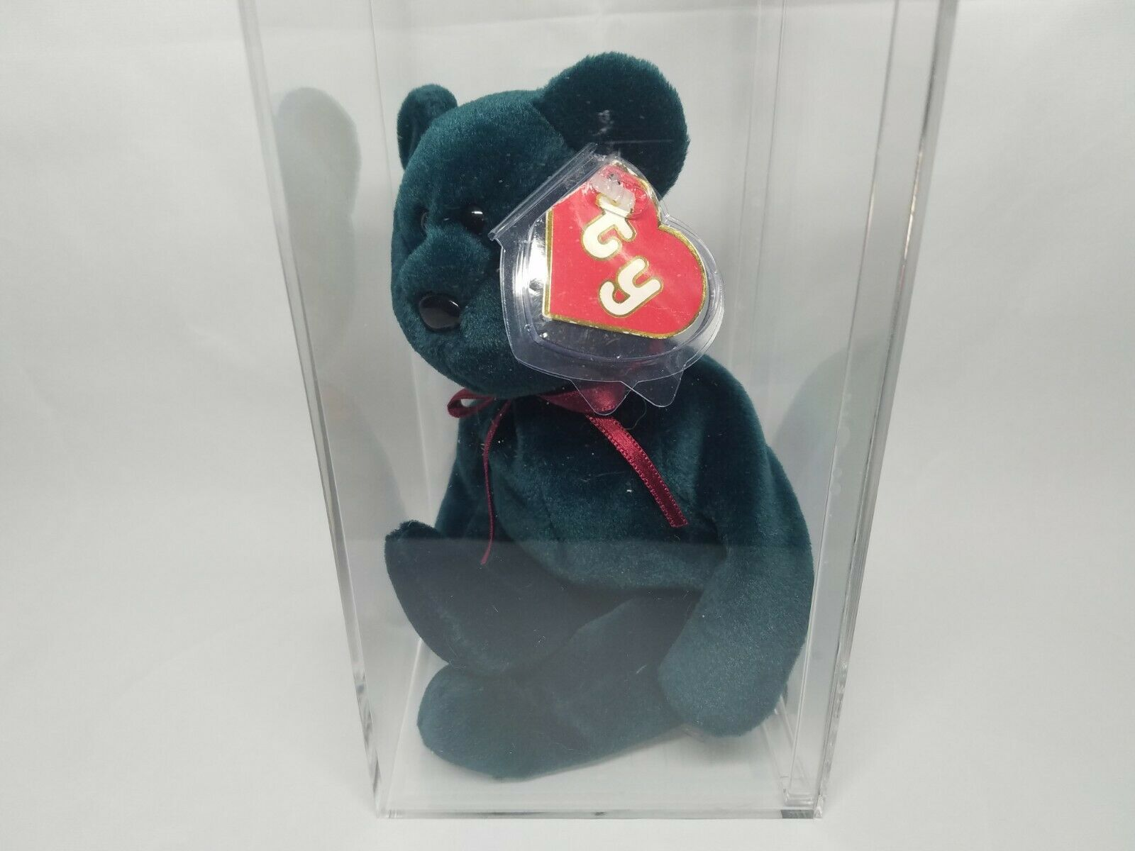 Authenticated Ty Beanie Baby Rare Jade New Face (NF) Teddy 2nd 1st Gen MWNMT
