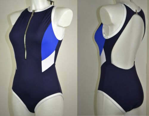 Costume da nuoto 213 NEXT Nuovo Navy Sport Cerniera Costume Da Bagno Lycra Xtra