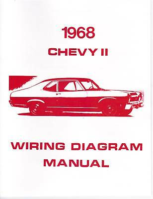 1968 NOVA/ CHEVY II WIRING DIAGRAM MANUAL   eBay