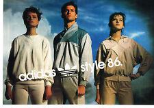 PUBLICITE ADVERTISING  1986   ADIDAS  joggings   vetements de sport ( 2 pages)2