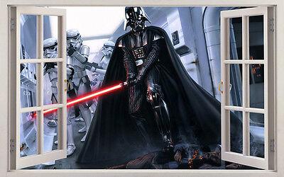 3D 60x100cm Star Wars Darth Vader Wall Sticker Kids Nursery Decor Kids Decal Art