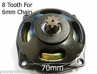MINI MOTO MINI DIRT BIKE CLUTCH BELL HOUSING FOR 6MM CHAIN 6,7,8 TOOTH PINION