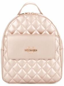 2e17fcb9e8086 Image is loading LOVE-MOSCHINO-Backpack-Large-Size-Quilted-Pearl-Rose-