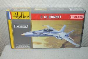 MAQUETTE-AVION-F-18-HORNET-HELLER-1-144-MODEL-NEUF-PLANE-PLANO