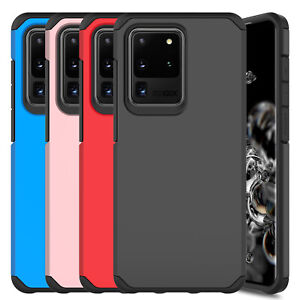 For Samsung Galaxy S20 Ultra Plus Shockproof Hybrid Rubber Slim Armor Case Cover