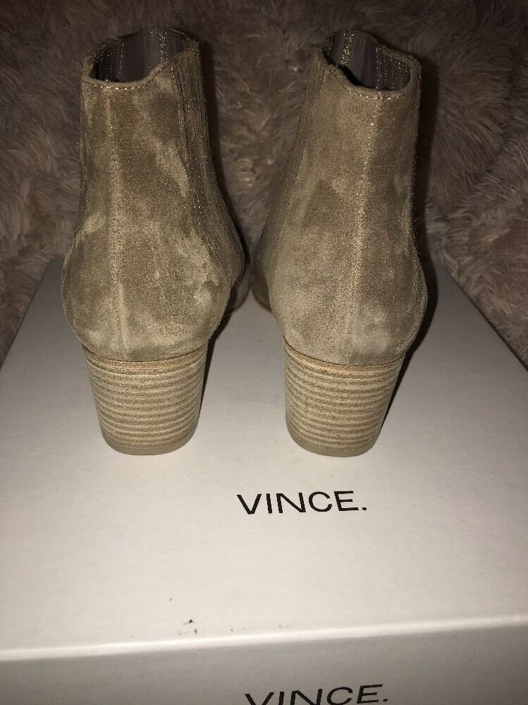Vince Haider Suede Flint Stock Stock Stock Heel Bootie Ankle Stiefel sz 9 m eur 39 new a1653f