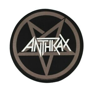 Anthrax Masters Logo Embroidered Iron On Patch Music Rock Band