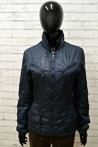 Giubbotto-Giacca-Donna-BEST-COMPANY-Taglia-L-Giubbino-Bomber-Jacket-Woman-Blu
