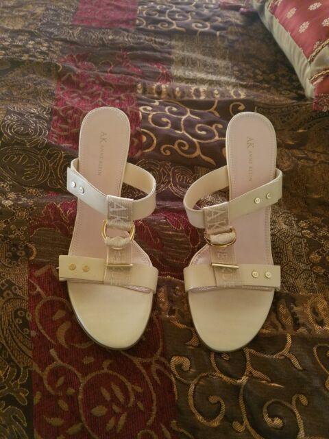 Anne klein elegant sandal slide beige, size 10, new