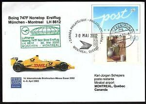 FFC MUNUCH (MUNCHEN) GERMANT TO MONTREAL CANADA, BOEING 747F KB1953)