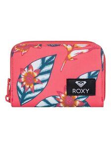 Detalles de ROXY para Mujer Bolso. con cremallera Querido Corazón Rosa Flor Monedero Tarjeta Dinero Cartera 9W 18MK ver título original