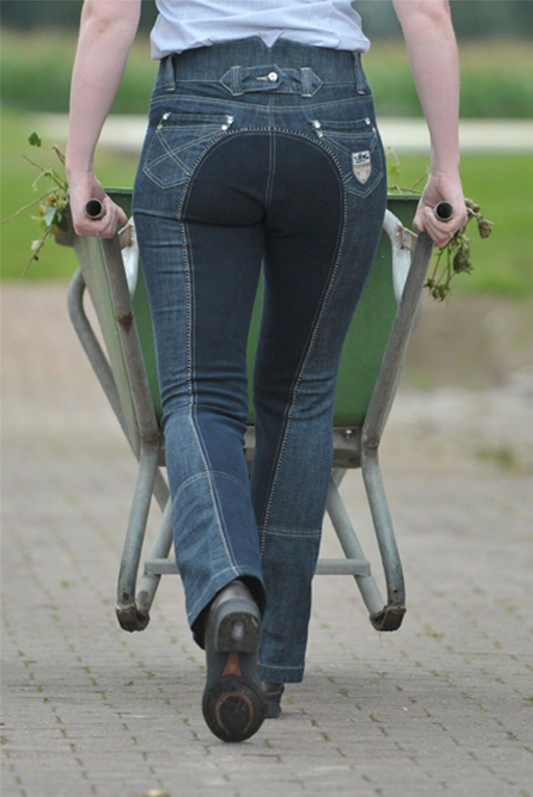 HKM Pro Team Junior Miss Blink Breathable Elastic Horse Rider Jodhpur Breeches