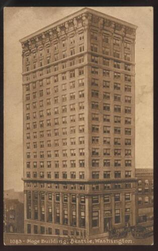 Postcard Seattle WA Hoge Building view 1907?