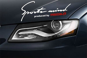Sports Mind Produced by MAZDA 6 Racing Decal sticker emblem logo SILVER//R Pair