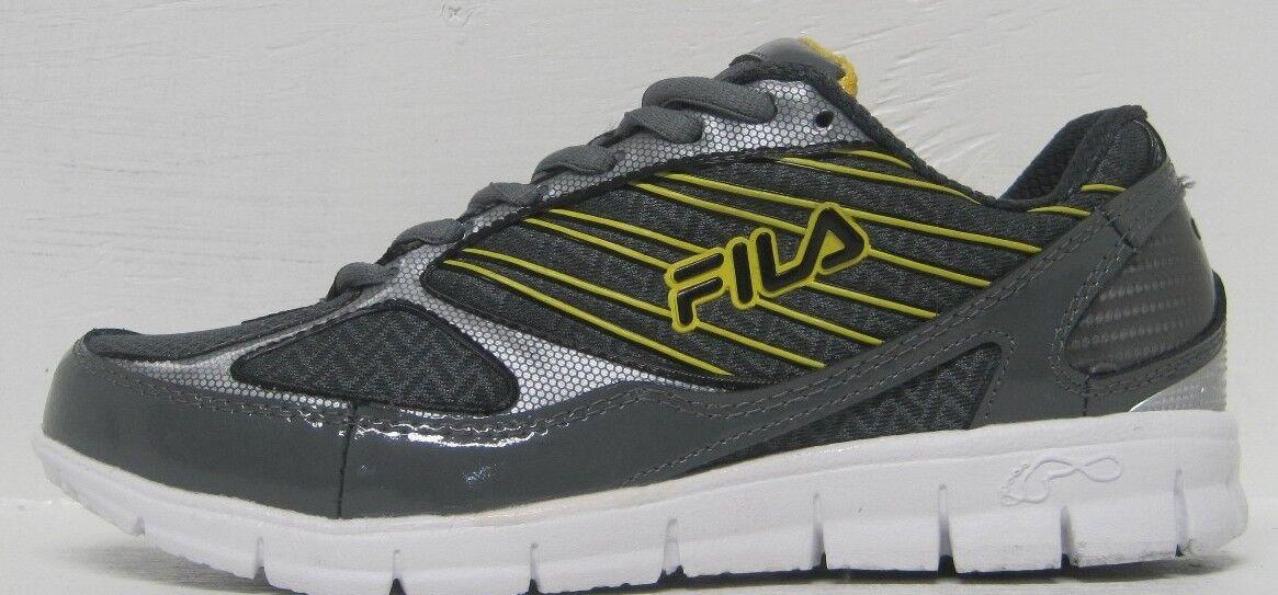 Fila Men's 2A Advanced Running Shoe,Castlerock/Black/Lemon, sizes 8  M US best-selling model of the brand