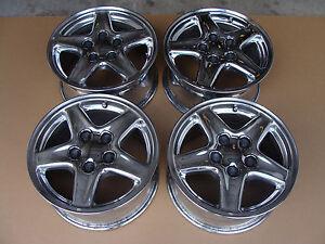 97 99 Camaro Z28 SS 16 Aluminum Chrome Factory Wheels Rims 070116