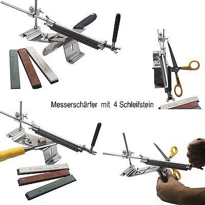 RUIXIN Messerschleifer Messerschärfer Eisen Material mit  4 Schleifstein DHL