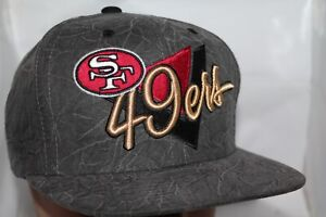 d629389f Details about San Francisco 49ers Mitchell & Ness Crease Triangle Script  Snapback,Cap,Hat