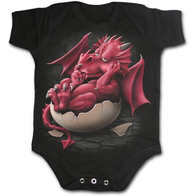 SPIRAL DIRECT Growing Pains babygrow/romper/baby grow/suit/sleep/cute/dragon