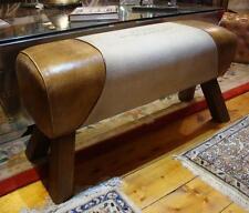 Genuine Leather & CANVAS Bench CAVALLO STILE-PARIGI STAMPA-lunghezza 88cm
