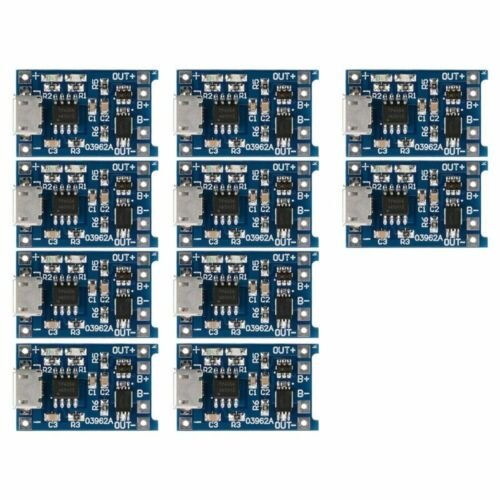 5x 5V Mini USB 1A 18650 TP4056 Lithium Battery Charging Board Module Protection